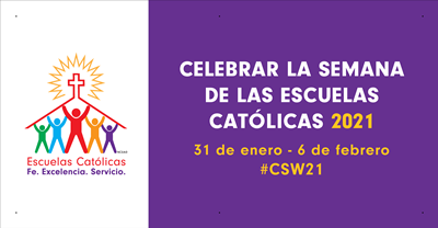 4'x2' National Catholic Schools Week Banner Basic - Spanish