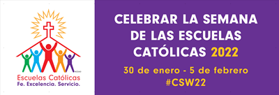 4' x 12' - National Catholic Schools Week Banner - Spanish